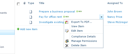 Export a Particular Item from a List to PDF
